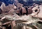 Lò nung vật liệu thời Trần được phát hiện tại Yên Bái