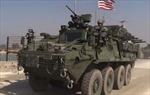 Đoàn xe thiết giáp 8 bánh của Mỹ rầm rập trên đường Syria