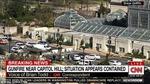Xe cảnh sát trước nhà Quốc hội Mỹ bị tấn công, đã có nổ súng