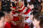 14 cặp đôi tại Hà Nội tổ chức lễ cưới tập thể nơi cửa Phật