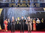 """102 doanh nghiệp được tôn vinh tại Giải thưởng """"Thương mại dịch vụ Việt Nam"""" 2016"""