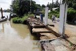 Cần Thơ: Sạt lở tại quận Ô Môn, một cây xăng bị 'ngoạm' chìm xuống sông