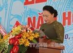 Chủ tịch Quốc hội Nguyễn Thị Kim Ngân dự khai giảng năm học mới tại Tiền Giang