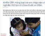 Không có chuyện hàng loạt học sinh TP Hồ Chí Minh bị ngộ độc thịt lợn tiêm thuốc an thần