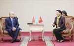 Chủ tịch Quốc hội gặp lãnh đạo Đảng Cộng sản Nhân dân Kazakhstan