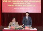 Phó Thủ tướng Vương Đình Huệ khảo sát thực trạng chính sách trong Tòa án nhân dân