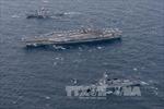Tàu sân bay Mỹ tuần tra ngoài khơi bán đảo Triều Tiên