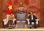 Phó Chủ tịch Quốc hội Phùng Quốc Hiển tiếp Chủ tịch Kiểm toán Nhà nước Lào