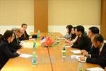 Phó Thủ tướng Phạm Bình Minh tiếp xúc song phương trong thời gian dự ASEM 13
