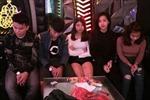 Bắt quả tang 6 đối tượng sử dụng thuốc lắc tại quán Karaoke