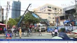 Đổ cần cẩu công trình xây dựng tại Đà Nẵng