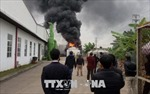 Cháy lớn tại Cụm công nghiệp Tân Liên, Hải Phòng