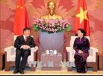 Chủ tịch Quốc hội Nguyễn Thị Kim Ngân tiếp Phó Chủ tịch Quốc hội Trung Quốc