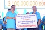 Quyên góp 3,1 tỷ đồng ủng hộ người nghèo đón Tết