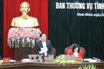 Đại tướng Ngô Xuân Lịch chỉ đạo kiểm điểm tự phê bình và phê bình của Ban Thường vụ Tỉnh ủy Ninh Bình