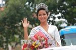 Hoa hậu Hoàn vũ H'Hen Niê tươi tắn tham gia hoạt động cộng đồng tại Đắk Lắk