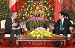 Chủ tịch nước Trương Tấn Sang tiếp Chủ tịch Thượng viện Mêhicô