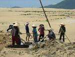 Tái diễn tình trạng trộm cát lấy quặng ti tan