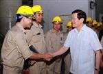 Chủ tịch nước Trương Tấn Sang thăm Nhà máy thủy điện Sơn La