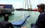 Bắt đầu trục vớt container trong tàu Trường Hải Star bị chìm