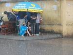 Hà Nội: Phụ huynh đội mưa tầm tã chờ con thi ĐH