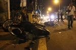 Xe ben tông hai xe máy, ba người thương vong