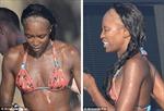 'Báo đen' Naomi Campbell trọc đầu vì ép tóc