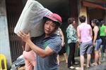 Hoảng loạn sơ tán trong vụ cháy tại Vọng Hà