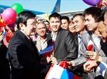 Chủ tịch nước gặp gỡ người Việt tại Vladivostok