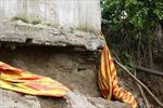 Hà Nội: Bờ sông Hồng sạt lở nghiêm trọng