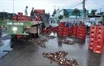 Đà Nẵng: Suối bia lênh láng trên quốc lộ