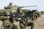 Biên phòng Nga diễn tập quân sự mô lớn