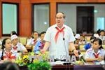 Lãnh đạo TP Hồ Chí Minh gặp gỡ thiếu nhi nhân dịp đầu xuân