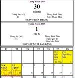 Nghỉ lễ 30/4 và 1/5 năm nay là bao nhiêu ngày?