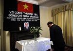 Lễ viếng và mở Sổ tang tưởng nhớ nguyên Thủ tướng Phan Văn Khải tại Anh