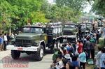 Dòng người chờ đưa tiễn nguyên Thủ tướng Phan Văn Khải tại quê nhà