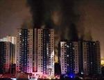 Chung cư Carina Plaza cháy ngút trời, 27 người chết và bị thương