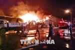 Quảng Ninh: Cháy lớn tại kho nguyên liệu của Nhà máy sản xuất sơ sợi Texhong - Ngân Long