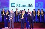 Manulife Việt Nam lần thứ 9 nhận Giải thưởng Rồng Vàng
