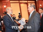 Bí thư Thành ủy Thành phố Hồ Chí Minh tiếp Chủ tịch Quốc hội Iran