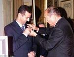 Tổng thống Syria bất ngờ trả huân chương cao quý được Pháp trao tặng