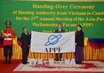 Quốc hội Việt Nam chuyển giao chức Chủ tịch APPF cho Quốc hội Campuchia