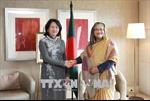 Phó Chủ tịch nước Đặng Thị Ngọc Thịnh gặp Thủ tướng Bangladesh