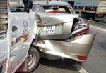 5 ô tô tông liên hoàn gây biến dạng, hư hỏng nặng trên Quốc lộ 1