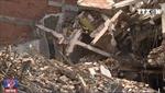 Sập ngôi nhà 100m2 vừa đổ trần khiến 2 người thương vong