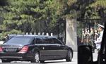 Hình ảnh đoàn xe hộ tống đưa nhà lãnh đạo Triều Tiên về nhà khách Điếu Ngư Đài