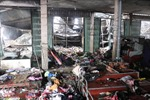 Cháy lớn thiêu rụi 1.000m2 tại khu chợ Sóc Sơn, Hà Nội