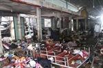 Tan hoang chợ Sóc Sơn sau đám cháy rạng ngày