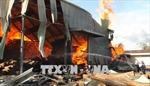 Cháy lớn kho gỗ ở Quảng Bình, thiệt hại hàng chục tỷ đồng