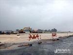 Mưa lớn, nhiều tuyến đường tại Nghệ An bị ách tắc